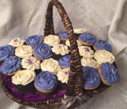Birthday Cupcake Basket